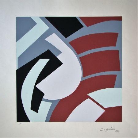 Serigrafia Bozzolini - Composition, 1954