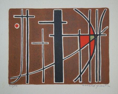 Litografia Quentin - Composition, 1956