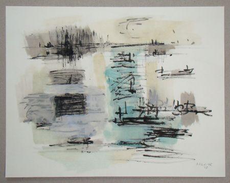 Pochoir Bazaine - Composition, 1957