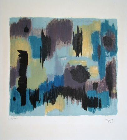Litografia Bazaine - Composition, 1957