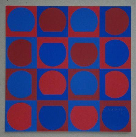 Serigrafia Vasarely - Composition, 1964