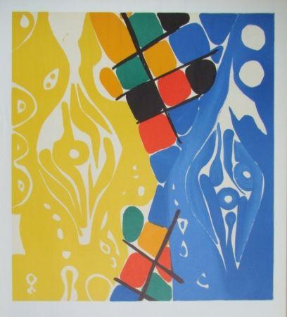 Litografia Nay - Composition 1966-1