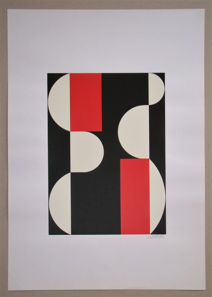 Serigrafia Béöthy Steiner - Composition, 1970