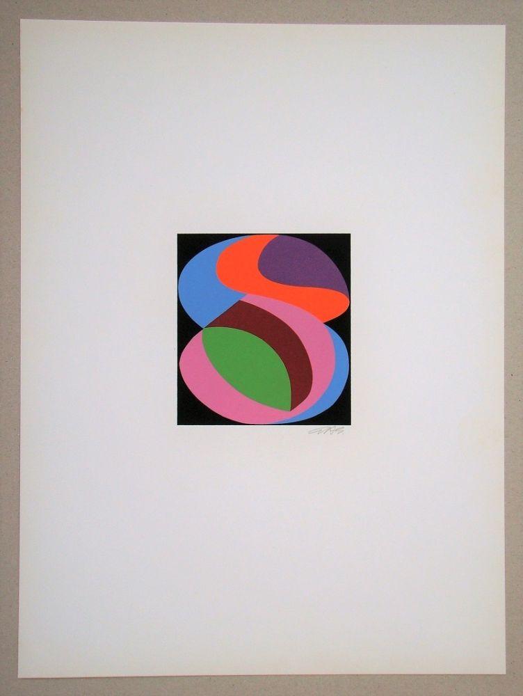 Serigrafia Béöthy Steiner - Composition, 1972
