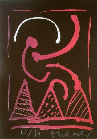 Litografia Alechinsky - Composition 8/8