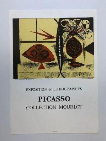 Manifesti Picasso - Composition au vase de fleurs