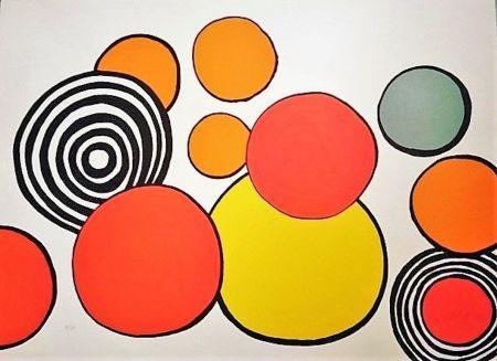 Litografia Calder - Composition aux Cercles