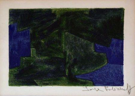 Litografia Poliakoff - Composition bleue et verte n°41