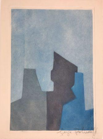 Acquaforte E Acquatinta Poliakoff - Composition bleue XXIV