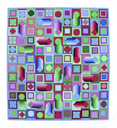 Serigrafia Vasarely - Composition cinétique