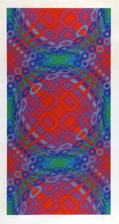 Serigrafia Vasarely - Composition Cinétique 1