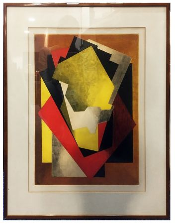 Acquaforte E Acquatinta Villon - Composition Cubiste (1927)