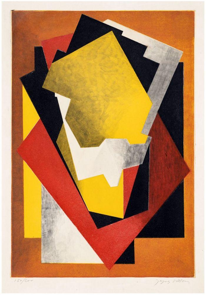 Acquaforte E Acquatinta Villon - Composition Cubiste (1927) signée au crayon.