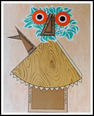 Litografia Baj - Composition Figurative