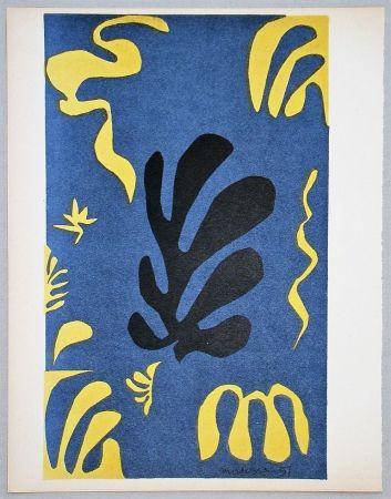 Litografia Matisse - Composition fond bleu, 1951