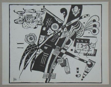 Incisione Su Legno Kandinsky - Composition from 1935
