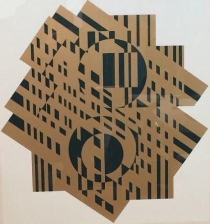 Litografia Vasarely - Composition Géométrique