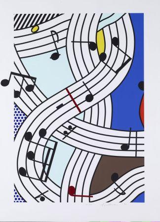 Serigrafia Lichtenstein - Composition I