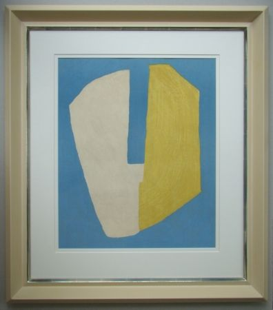 Litografia Poliakoff - Composition jaune et bleue