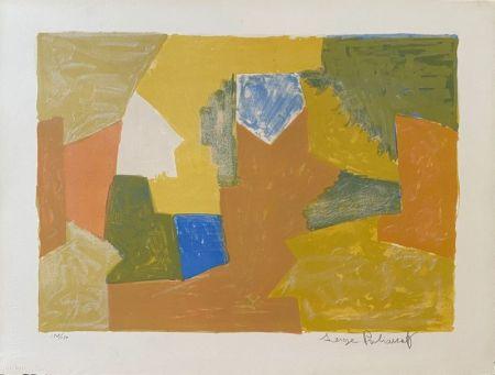 Litografia Poliakoff - Composition jaune, Orange et Verte L14