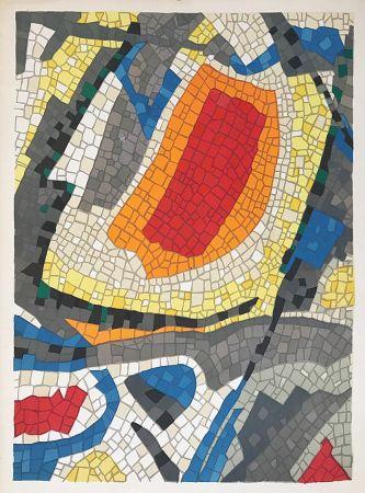 Litografia Bazaine - Composition mosaïque