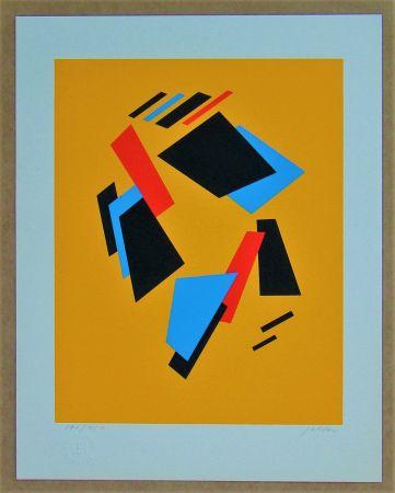 Serigrafia Jeltov - Composition  Moscou-Paris