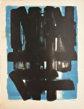 Litografia Soulages - Composition N°5