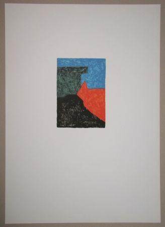 Litografia Poliakoff - Composition Noire, Rouge, Bleue Et Verte