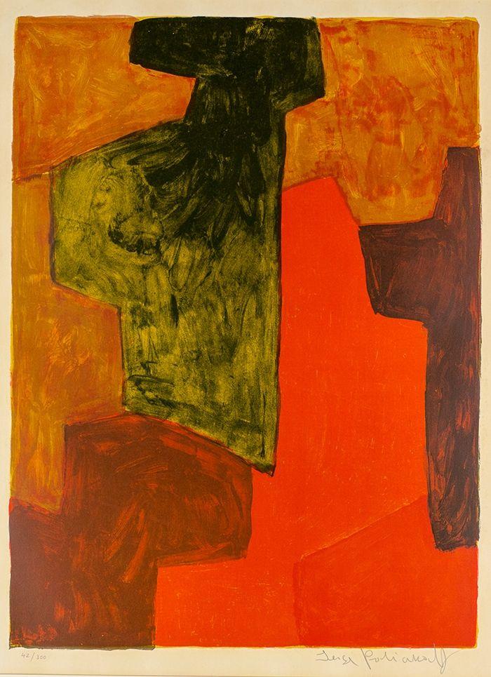 Non Tecnico Poliakoff - Composition orange et verte