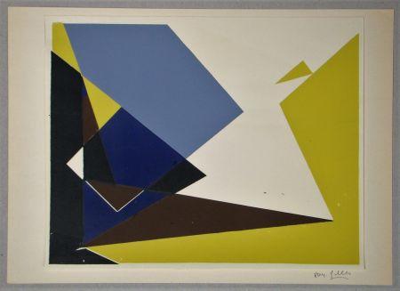 Serigrafia Gilles  - Composition pour Art Abstrait