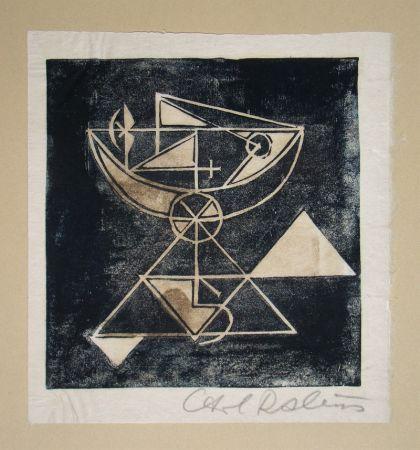 Incisione Su Legno Rabus - Composition pour Art Abstrait