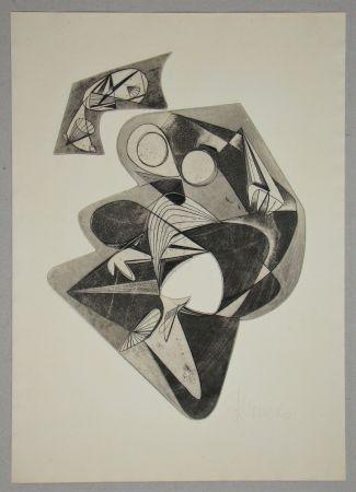 Acquaforte Mels - Composition pour Art Abstrait
