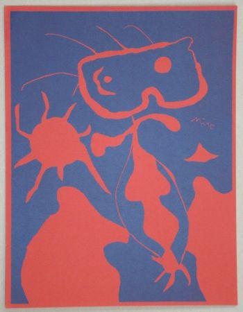 Linoincisione Miró - Composition pour XXe Siècle