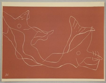 Linoincisione Laurens - Composition pour XXe Siècle