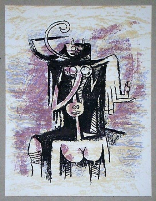 Litografia Lam - Composition pour XXe Siècle