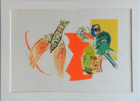 Litografia Chagall - Composition pour XXe Siècle