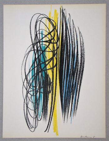 Litografia Hartung - Composition pour XXe Siècle