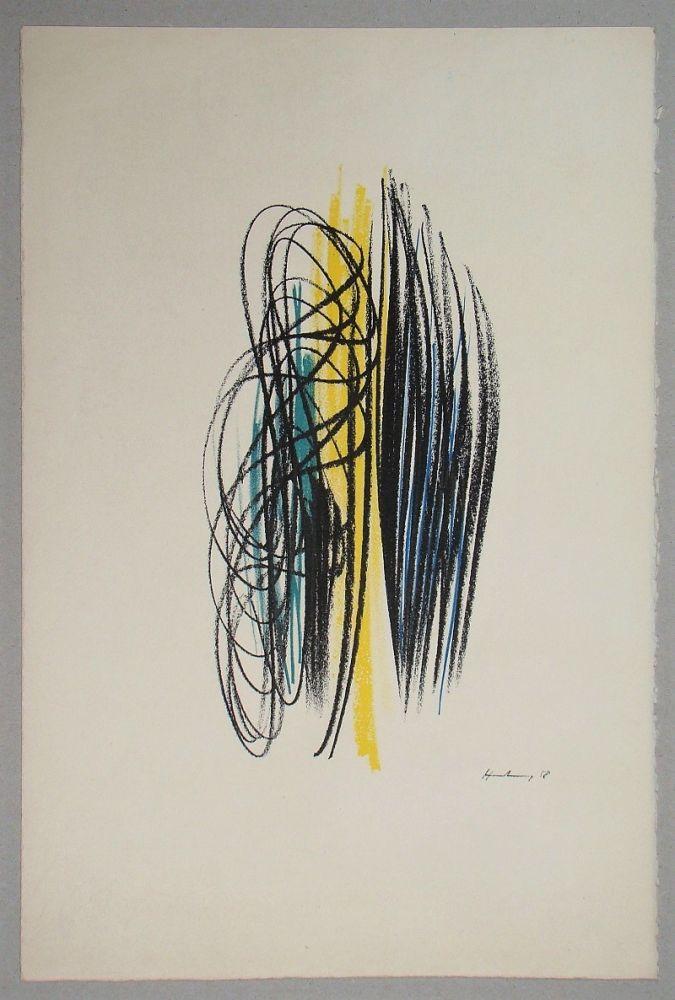 Litografia Hartung - Composition pour XXe Siècle - 1958