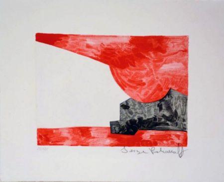 Litografia Poliakoff - Composition rouge, blanche, noire n°42