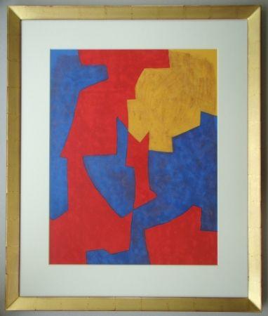 Litografia Poliakoff - Composition rouge, bleue et jaune