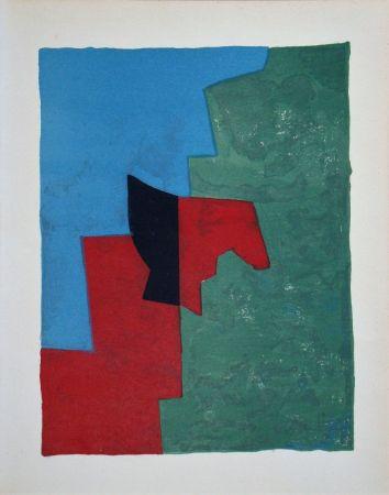 Litografia Poliakoff - Composition rouge, verte et bleue