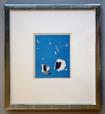 Litografia De Stael - Composition Sur Fond Bleu Ciel