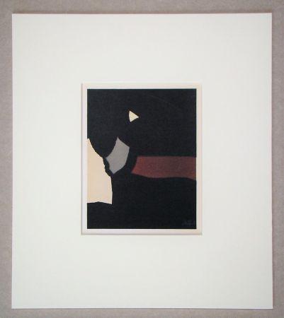Litografia De Stael - Composition sur fond noir