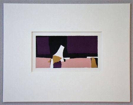 Litografia De Stael - Composition Violette - 1952