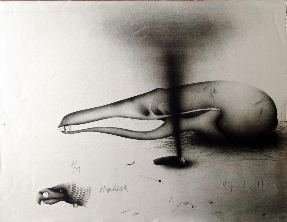Litografia Wunderlich - Composizione