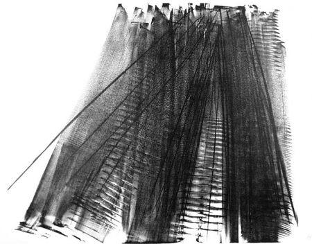 Litografia Hartung - Composizione
