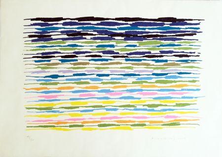 Litografia Dorazio - Composizione 2