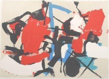 Litografia Afro - Composizione (Per Mann)