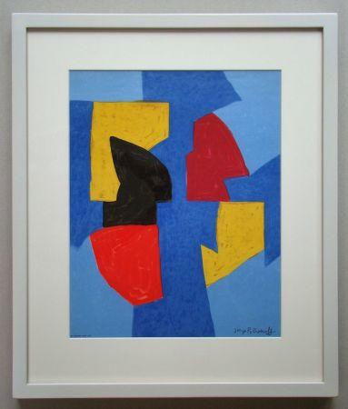 Litografia Poliakoff - Compsition bleue, rouge et jaune