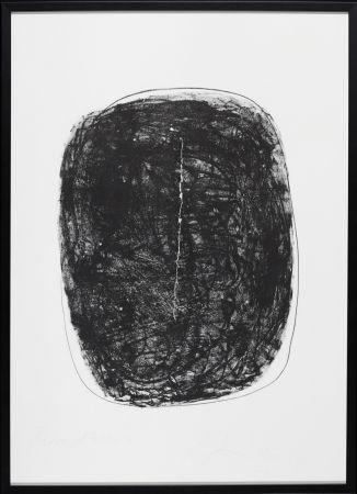 Litografia Fontana - Concetto Spaziale N.1